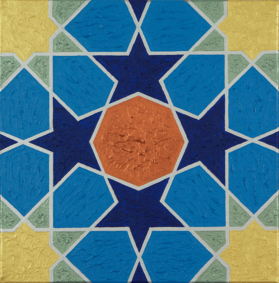 Painting of a motif from the tomb of Jalal al Din
