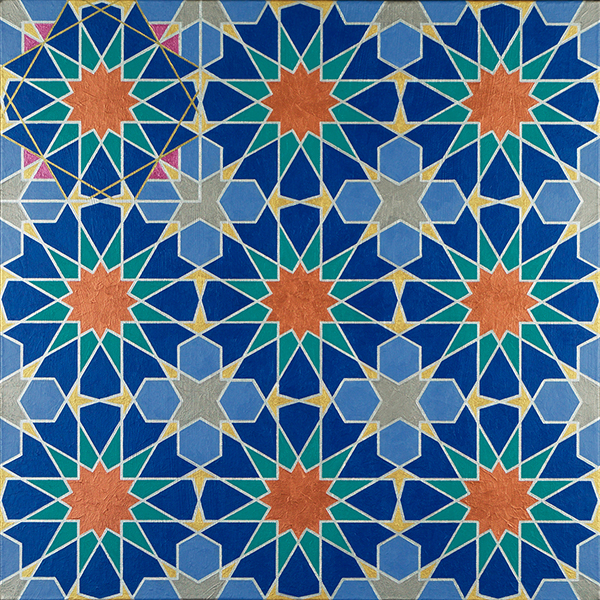Panel 2 of a painting of the 