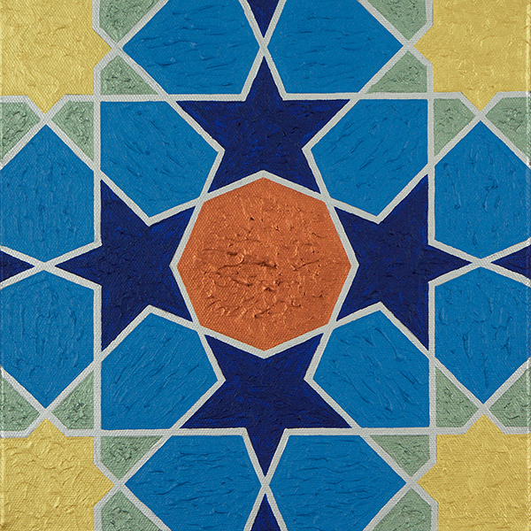 Painting of geometric motif from the Tomb of Jalal al Din