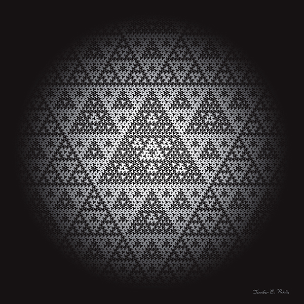 Digital art featuring a Sierpinski substitution pattern
